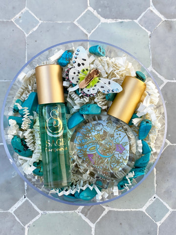 Secret Garden~Perfume Gemstone Roll-On and EDT Mini Gift Set by Sage - The Sage Lifestyle