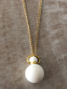 White Jade Chloe Gemstone Perfume Bottle Gold Necklace by Sage Machado - The Sage Lifestyle