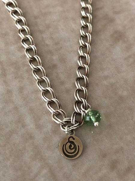 Green Flourite Angelina Gemstone Perfume Bottle Silver Necklace by Sage Machado - The Sage Lifestyle