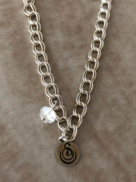 Opalite Angelina Gemstone Perfume Bottle Silver Necklace by Sage Machado - The Sage Lifestyle