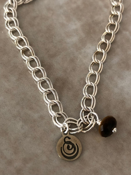 Tiger's Eye Angelina Gemstone Perfume Bottle Silver Necklace by Sage Machado - The Sage Lifestyle