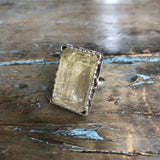 Sterling Silver Lg. Rudilated Quartz Ring by Sage