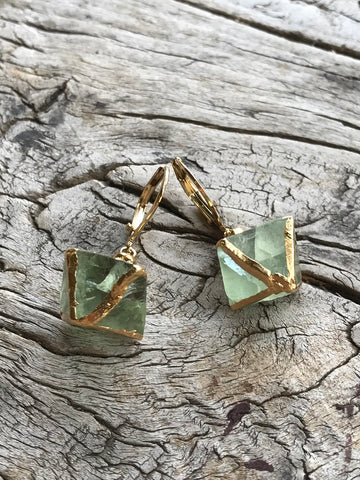 Green Fluorite Earrings by Sage Machado, Green Fluorite Earrings - The Sage Lifestyle