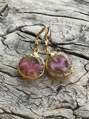 Czechoslovakian Glass Heart Earrings by Sage Machado, Czechoslovakian Glass Heart Earrings - The Sage Lifestyle
