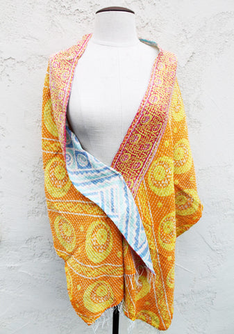 Sunny Blu One of a Kind Shawl, Reversible - The Sage Lifestyle