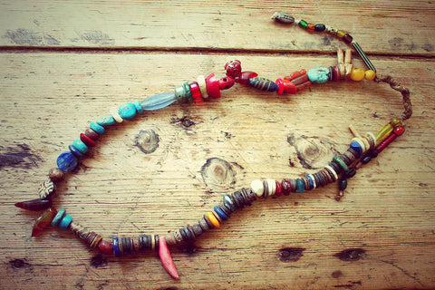 Amala One of a kind Vintage Tibetan Necklace by Sage - The Sage Lifestyle