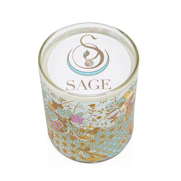 MY ABODE ~ Turquoise Gemstone Perfume EDT and Candle Gift Set by Sage - The Sage Lifestyle