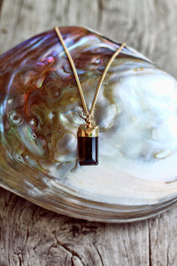 Topaz Rectangle Drop on Chain - Mermaid Soul Necklace by Sage - The Sage Lifestyle