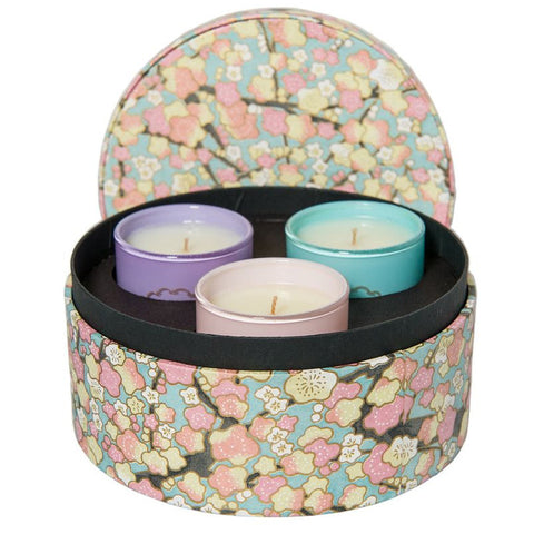 Candle Gift Set by Sage - Pearl, Turquoise and Moonstone