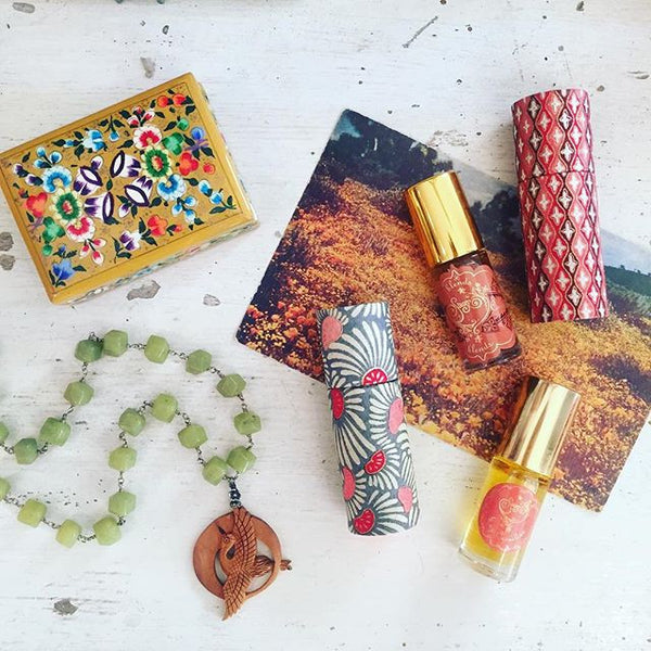 Carnelian Gemstone Perfume Oil Roll-On by Sage - The Sage Lifestyle