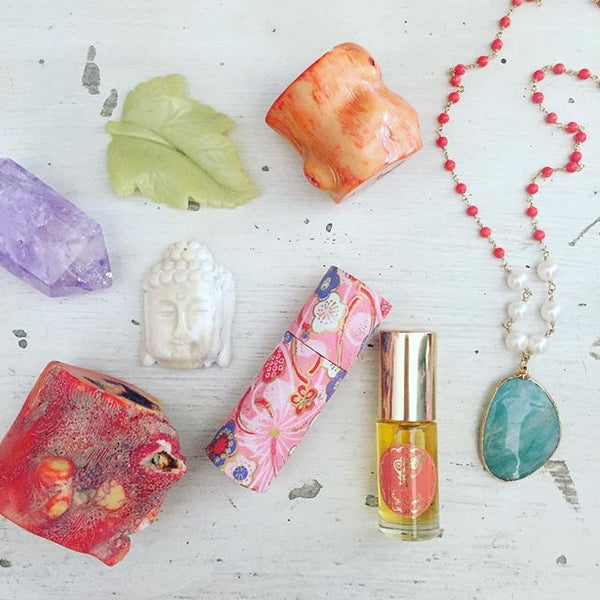 Coral 1/4 oz Gemstone Perfume Oil Roll-On by Sage - The Sage Lifestyle