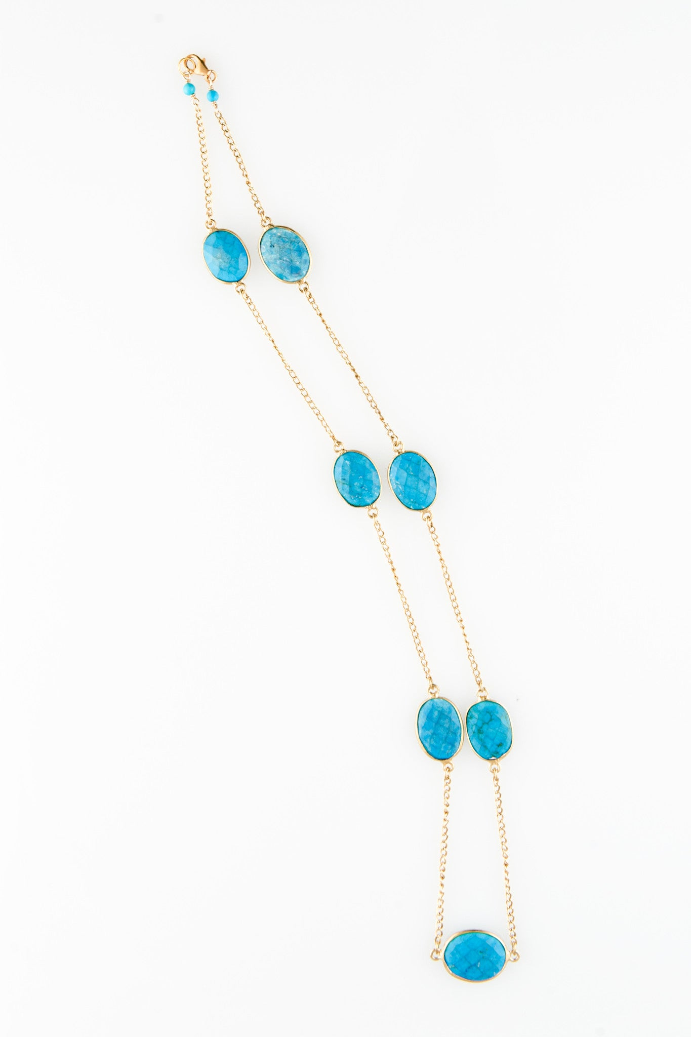 Turquoise Cabachon Chain - One of a Kind Gemstone necklace by Sage - The Sage Lifestyle