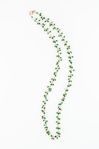 Malachite Petite Cluster Necklace