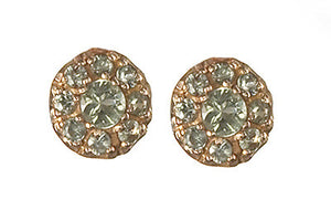 Bridal, Estate Jewelry 14K Rose Gold Duchess Post Green Sapphire Earrings by Sage - The Sage Lifestyle