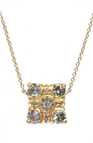 Bridal, Estate Jewelry 14K Rose Gold Empress Blue Sapphire Necklace by Sage - The Sage Lifestyle