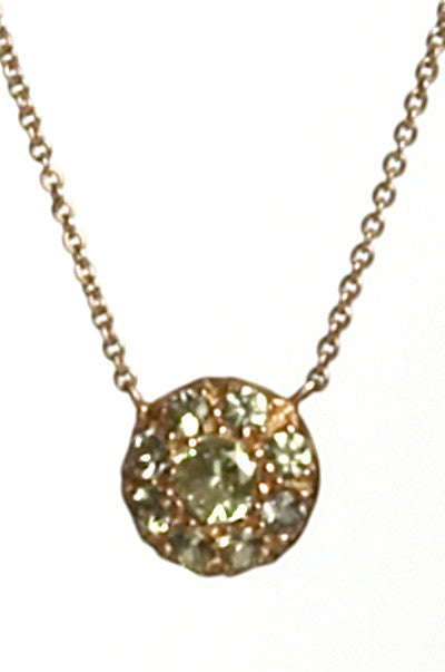 Bridal, Estate Jewelry 14K Rose Gold Duchess Green Sapphire Necklace by Sage - The Sage Lifestyle