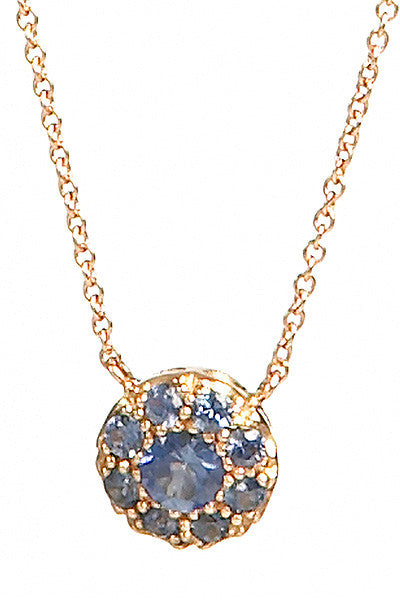 Bridal, Estate Jewelry 14K Rose Gold Duchess Blue Sapphire Necklace by Sage - The Sage Lifestyle