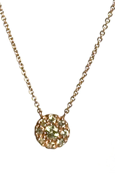 Bridal, Estate Jewelry 14K Rose Gold Princess Green Sapphire Necklace by Sage - The Sage Lifestyle