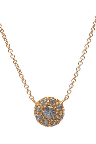 Bridal, Estate Jewelry 14K Rose Gold Princess Blue Sapphire Necklace by Sage - The Sage Lifestyle