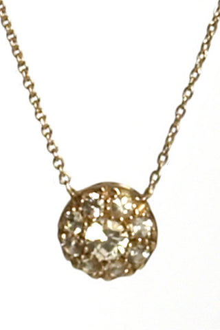 Bridal, Estate Jewelry 14K Yellow Gold Duchess White Sapphire Necklace by Sage - The Sage Lifestyle