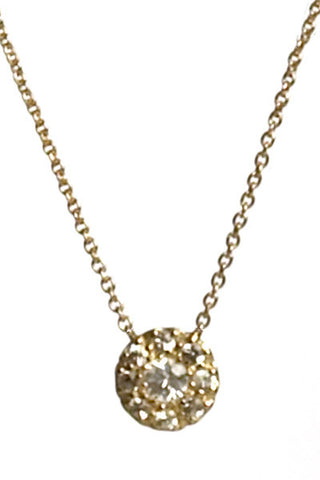 Bridal, Estate Jewelry 14K Yellow Gold Princess White Sapphire Necklace by Sage - The Sage Lifestyle