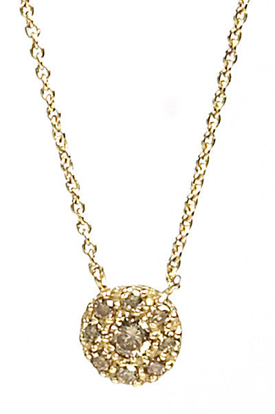 Bridal, Estate Jewelry 14K Yellow Gold Princess Champagne Diamond Necklace by Sage - The Sage Lifestyle