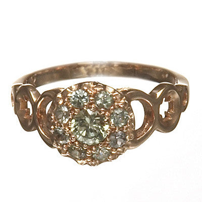 Bridal, Estate Jewelry 14K Rose Gold Duchess Green Sapphire Ring by Sage - The Sage Lifestyle
