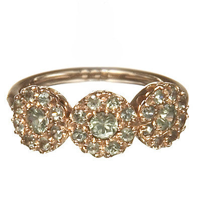 Bridal, Estate Jewelry 14K Rose Gold Princess Green Sapphire Ring by Sage - The Sage Lifestyle