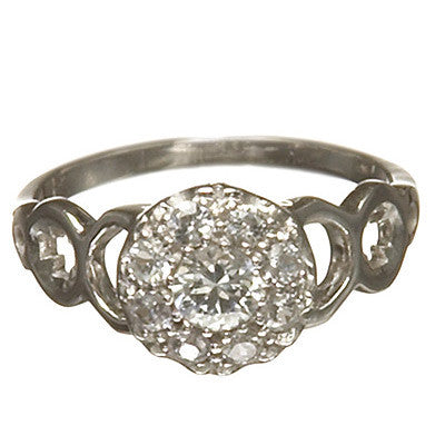 Bridal, Estate Jewelry 14K White Gold Duchess White Sapphire Ring by Sage - The Sage Lifestyle