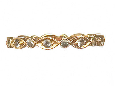 Bridal, Estate Jewelry Lace Eternity Ring Yellow Gold by Sage - The Sage Lifestyle