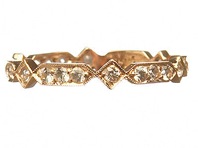Bridal, Estate Jewelry Estate Eternity Ring Rose Gold by Sage - The Sage Lifestyle