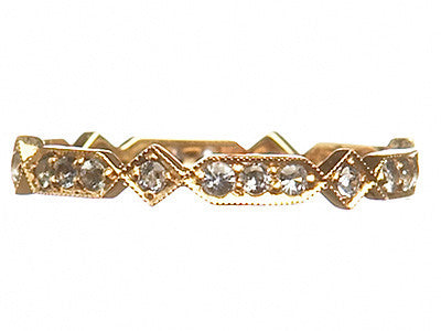 Bridal, Estate Jewelry Eternity Ring Yellow Gold by Sage - The Sage Lifestyle