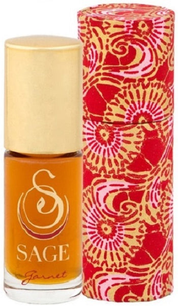 ESSENTIALS ~ Garnet Gemstone Perfume Roll-On and Candle Gift Set by Sage - The Sage Lifestyle