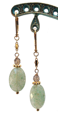 Adventurine Smoky Topaz Earrings - The Sage Lifestyle