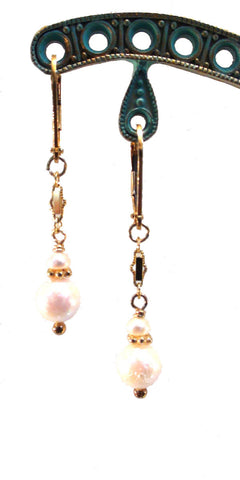 Cultured Pearl and Freshwater Pearl Earrings