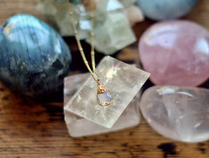 Gypsy Star Imperial Topaz charm on gold chain necklace by Sage - The Sage Lifestyle