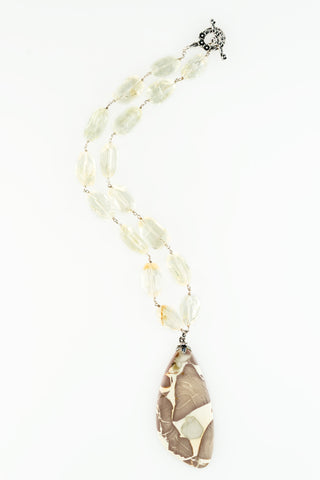 Apple Jasper Tier Drop One of a kind Necklace by Sage - The Sage Lifestyle