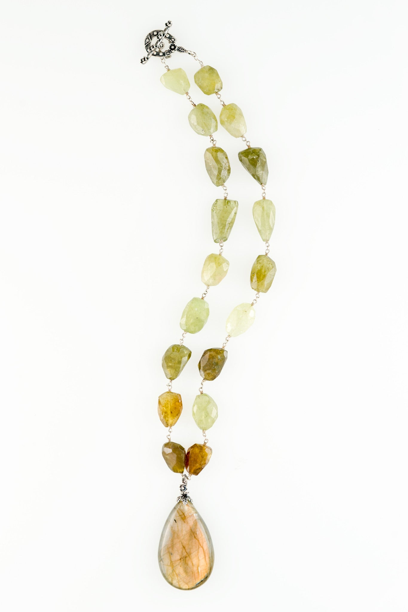 Labradorite Tier Drop Pendant One of a kind Necklace by Sage - The Sage Lifestyle