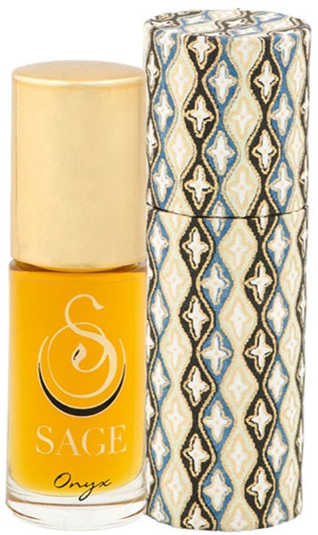 ESSENTIALS ~ Onyx Gemstone Perfume Roll-On and Candle Gift Set by Sage - The Sage Lifestyle
