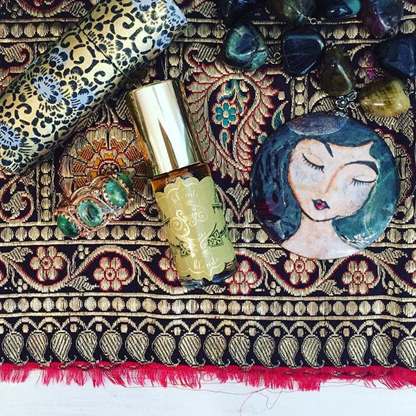 Onyx Peridot Gemstone Perfume Oil Roll-On by Sage - The Sage Lifestyle