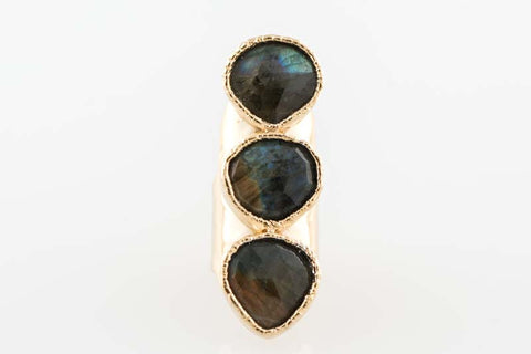 Labradorite Tier Drop Full Finger Ring