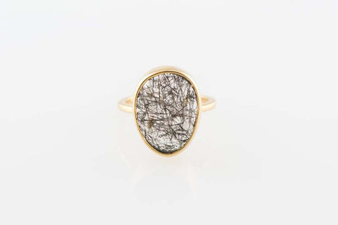 Tourmalated Quartz Ring by Sage - The Sage Lifestyle