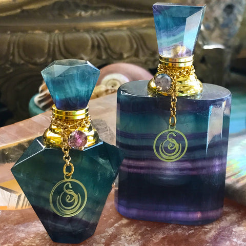 Large Gemstone Perfume Bottle