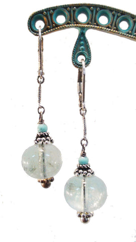 Flourite and Turquoise Earrings