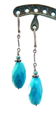 Faceted Turquoise and Turquoise Earrings - The Sage Lifestyle