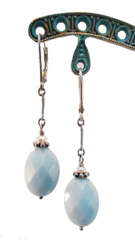 Amazonite and Freshwater Pearl Earrings - The Sage Lifestyle