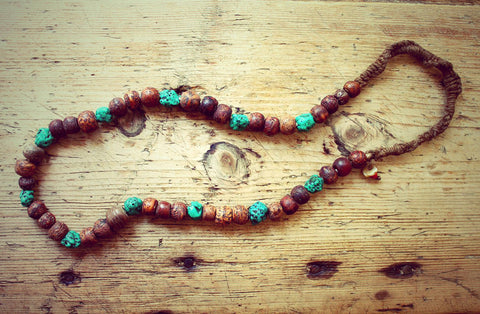 Karma One of a kind Vintage Tibetan Necklace by Sage