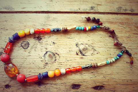Denpa One of a kind Vintage Tibetan Necklace by Sage - The Sage Lifestyle