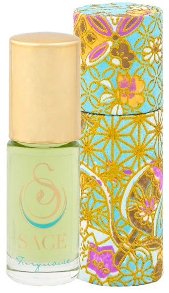 INDULGE ~ Turquoise Gemstone Perfume Roll-On and EDT Gift Set by Sage - The Sage Lifestyle