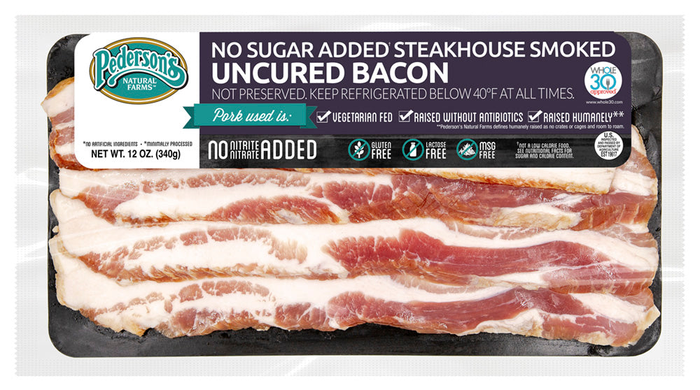 NO SUGAR ADDED STEAKHOUSE SMOKED UNCURED BACON